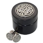 Celtic Square Knot Cufflinks With Wooden Box